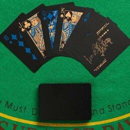 Настольные игры - Карты игральные покерные, черные, 0