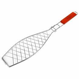 Решетки - Узкая решетка-гриль для рыбы Maclay Lux, 0