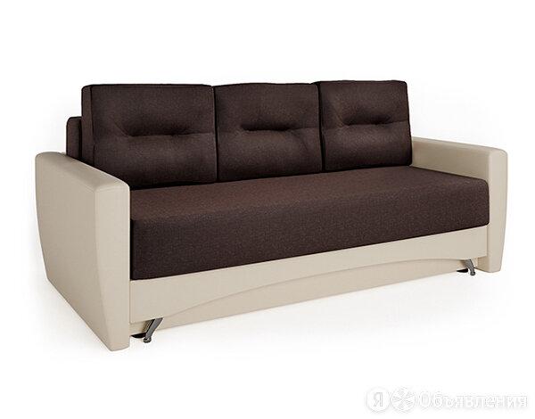 Диван-кровать Шарм-Дизайн Опера экокожа беж и рогожка шоколад по цене 22490₽ - Диваны и кушетки, фото 0