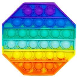 Игрушки-антистресс - Сенсорная игрушка - антистресс Залипательные пузырьки Радуга, 0