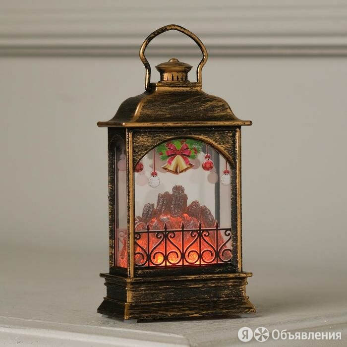 """Фигура светодиодная """"Фонарь бронзовый, Камин с колокольчиками"""", 13х3.5х7 см, ... по цене 416₽ - Новогодний декор и аксессуары, фото 0"""