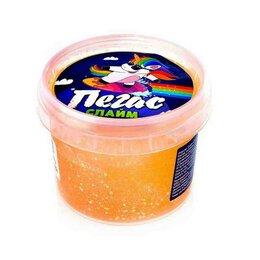 Мыльные пузыри - Слайм Прихлоп пегас битое стекло оранжевый 90 грамм, 0