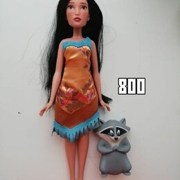 Куклы и пупсы - Кукла Покахонтас с енотом, 0