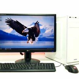 Настольные компьютеры - Системный блок на AMD + SSD + DDR4 8Gb + Монитор, 0