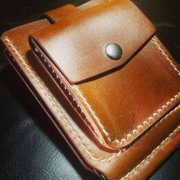 Кошельки - Зажим для денег с монетницей из натуральной кожи, 0