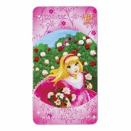"""Канцелярские принадлежности - Карандаши цветные BRAUBERG """"Rose Angel"""", 12 цветов, металлическая упаковка, 1..., 0"""