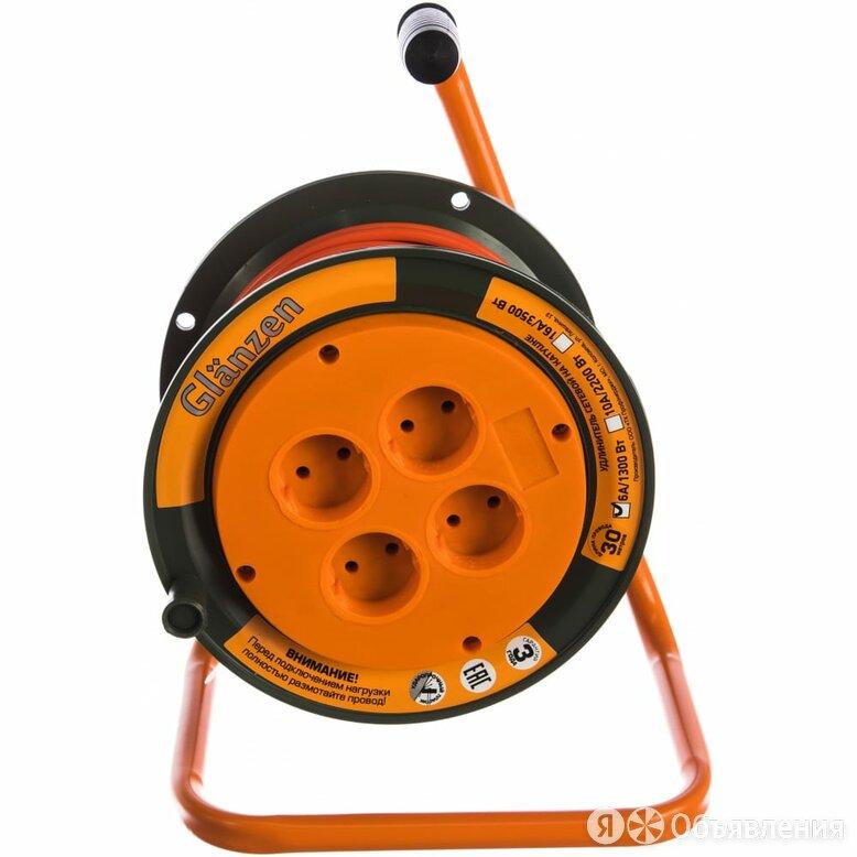 Силовой удлинитель на катушке GLANZEN EB-30-002 по цене 1379₽ - Электроустановочные изделия, фото 0