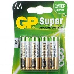 Батарейки - Батарейка GP Super Alkaline AA LR6 щелочная 4шт, 0