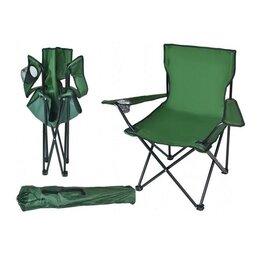 Кресла и стулья - Стул рыбацкий с подстаканником зеленый, 0