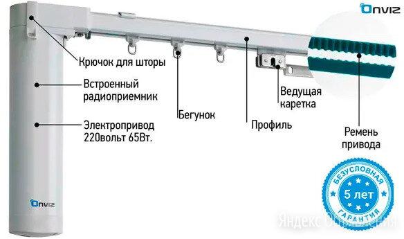 Электрокарниз безшумный (премиум) по цене 12900₽ - Карнизы и аксессуары для штор, фото 0