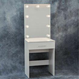 Столы и столики - Гримёрный стол и зеркало с подсветкой, пуф, 0