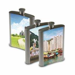 Туристическая посуда - Фляжка металлическая с вашим изображением, 0
