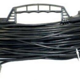 Источники бесперебойного питания, сетевые фильтры - Удлинитель сетевой Jett (ДЖЕТТ) рамка ПВС 2х0.75 1 розетка 30 м 10А черный РС-1, 0