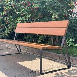 Скамейки -  Скамейка садово-парковая с удобной спинкой «Park» 1840, термососна, 0