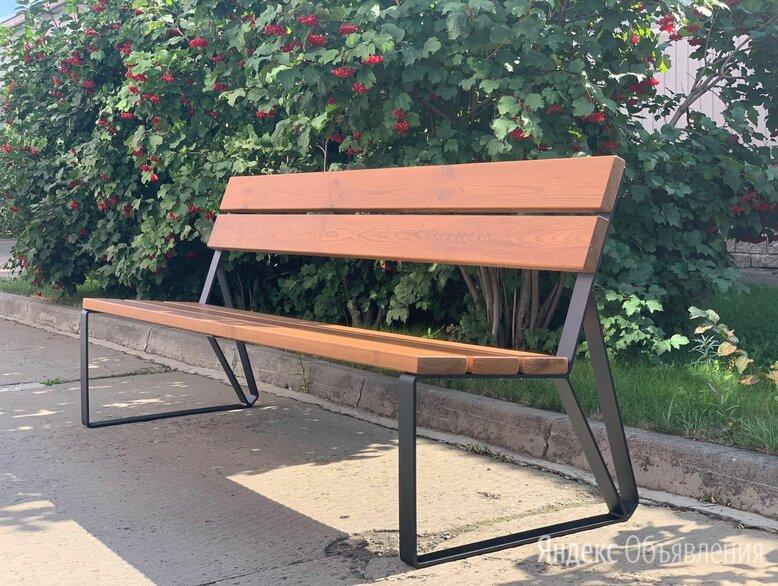 Скамейка садово-парковая с удобной спинкой «Park» 1840, термососна по цене 17940₽ - Скамейки, фото 0