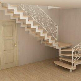 Лестницы и элементы лестниц - Лестница на центральном металлическом косоуре, 0