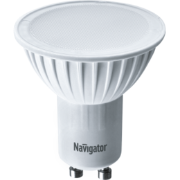 Лампочки - Лампа светодиодная FR PAR16 7Вт GU10 3000К 525Лм 50х57мм Navigator, 0