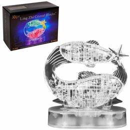 Пазлы - Пазл 3D кристаллический, «Знак зодиака Рыбы», 45 деталей, световые эффекты, р..., 0
