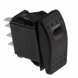 Электроустановочные изделия - Переключатель трехпозиционный ON-OFF-ON 12В/20А 7Р с подсветкой, 0
