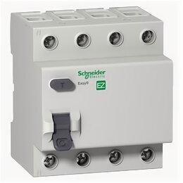 Поплавковые выключатели - Дифференциальный выключатель EASY 9 (УЗО) 4П 63А 30мА AC 230В =S=, 0