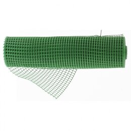 Заборчики, сетки и бордюрные ленты - Решетка заборная в рулоне, облегченная, 1,5х25 м, ячейка 70х70 мм, пластикова..., 0