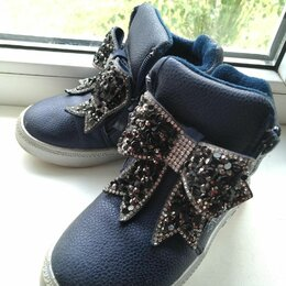 Ботинки - Ботинки со стразами, 0