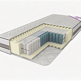 Матрасы - Матрас с независимым пружинным блоком ЛегкоМаркет Эллада TFK (256)  зональный, 0