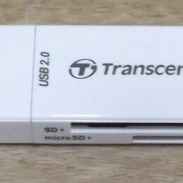Устройства для чтения карт памяти - USB картридер Transcend для карт памяти SD и microSD, 0