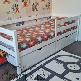 Кроватки - Детская кроватка с ящиками, новая, 0