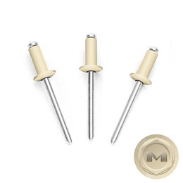 Шурупы и саморезы - Заклепки вытяжные 3,2*8мм RAL1015 Слоновая кость, 0
