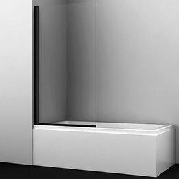 Шторы - Штора для ванны  WasserCRAFT BERKEL 48P01-80 BLACK 9062476, 0