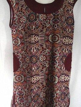 Домашняя одежда - Платье с карманами (бардо, зелёное). Новое. Хлопок, 0