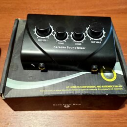Микшерные пульты - Караоке микшер на 2 микрофона и линейный вход, 0