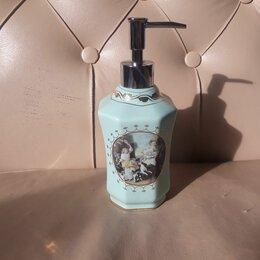 Мыльницы, стаканы и дозаторы - Дозатор для жидкого мыла. Каменная керамика., 0