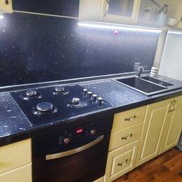 Мебель для кухни - Кухонный гарнитур 3метра,+газовая панель, эл.печь, каменная мойка,бу, срочно, 0