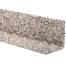 Отделочный профиль, уголки - Уголок внутренний металлический HAUBERK Серо-Бежевый 50*50*1250мм, 0