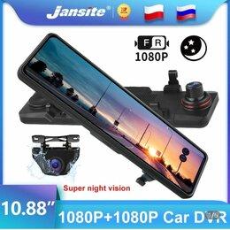 Автоэлектроника и комплектующие - Автомобильный видеорегистратор зеркало Jansite 10 сенсорный экран 1080p , 0