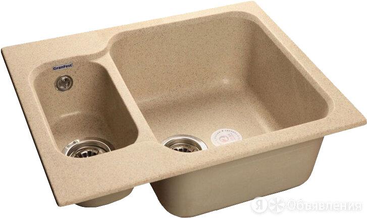 Мойка кухонная GranFest Standart GF-S615K песочный по цене 7250₽ - Кухонные мойки, фото 0