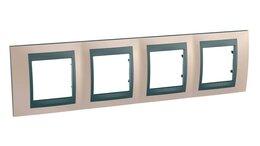 Электроустановочные изделия - Рамка 4-постовая Schneider Electric Unica Top…, 0