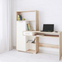 Компьютерные и письменные столы - Компьютерный стол квартет-8  дуб сонома текс, 0