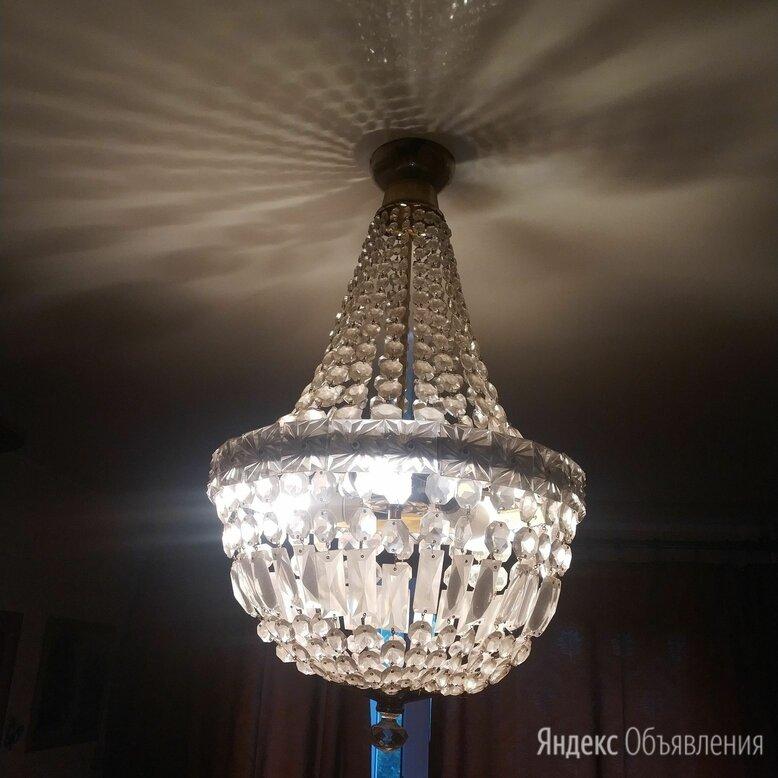 Люстра хрустальная груша чехия по цене 10000₽ - Люстры и потолочные светильники, фото 0