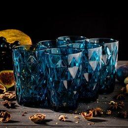 Одноразовая посуда - Набор стаканов Magistro 'Круиз', 350 мл, 6 шт, цвет синий, 0