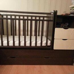 Кроватки - Кроватка детская трансформер с маятником и комодом, 0
