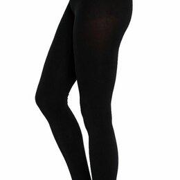 Колготки и носки - Теплые черные колготки на средний рост, р.3-4, 0