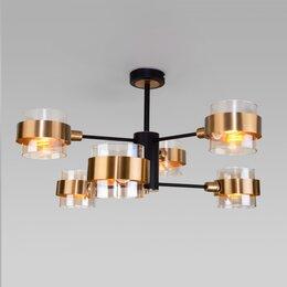 Люстры и потолочные светильники - EUROSVET - 70127/6 черный, 0