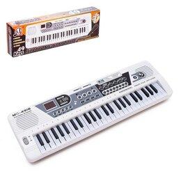 Детские музыкальные инструменты - Синтезатор «Музыкант» с микрофоном, 49 клавиш, работает от сети и от батареек, 0