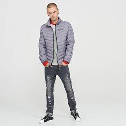 Куртки - Новая Стеганая куртка с нашивкой Серая, 0