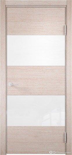 Межкомнатная дверь со стеклом Турин 12 Дуб Бежевый Вералинга экошпон Премиум ... по цене 8540₽ - Межкомнатные двери, фото 0
