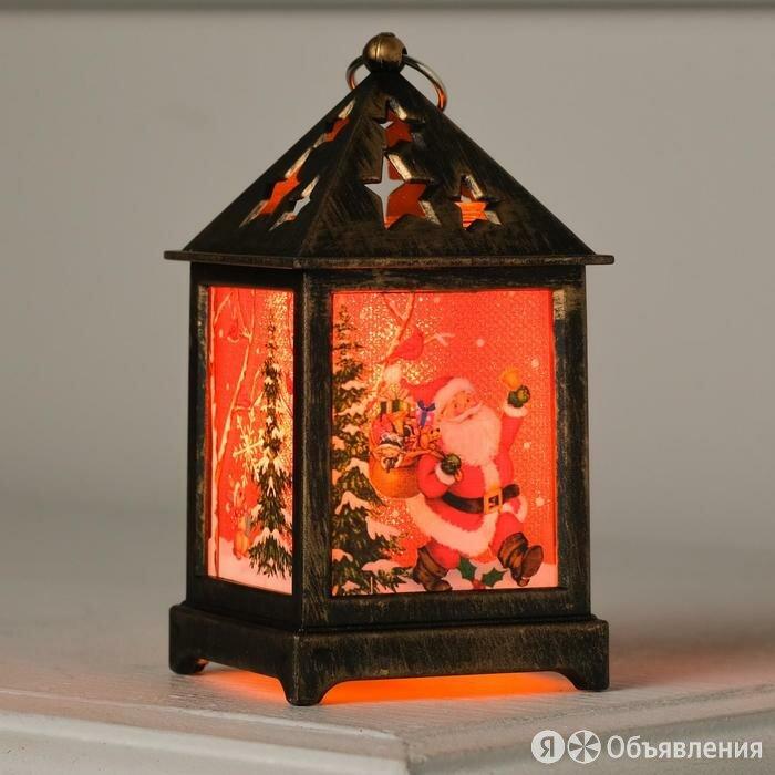 Фигура светодиодная 'Фонарь цвет бронза, Дед Мороз', 1 LED, 13х6х6 см, бат. 3... по цене 467₽ - Интерьерная подсветка, фото 0