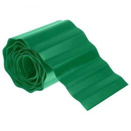 Заборчики, сетки и бордюрные ленты - Лента бордюрная - Садовый бордюр, 0,15 х 6 м, гофра, хаки, 0